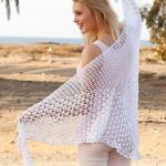 148-6 Summer Princess Shawl by DROPS Design