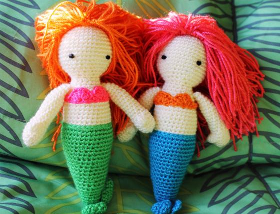Free Amigurumi Mermaid Patterns : Crochet Mermaid Dolls Free Pattern Roundup - Pink Mambo
