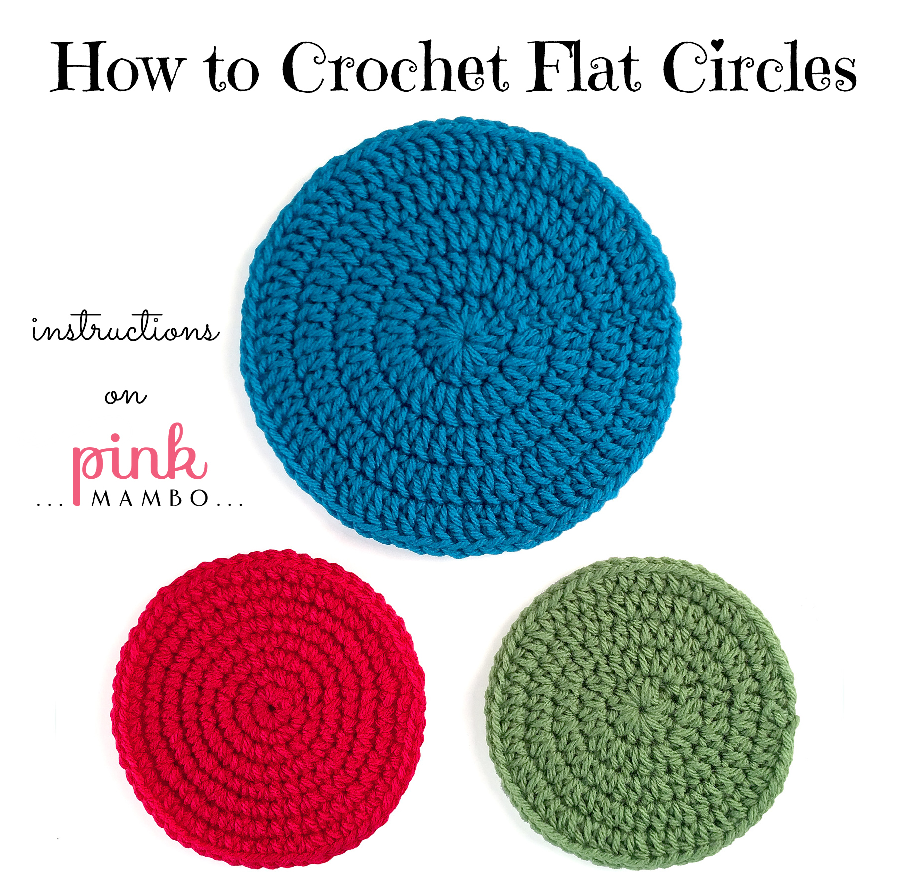 to crochet circles flat circles solid color circles multicolor circles ...