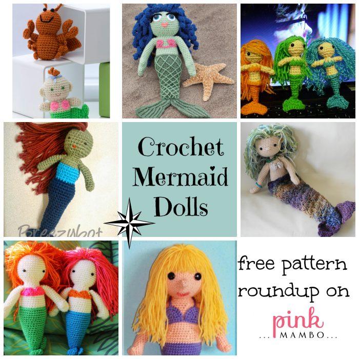 Mermaid Dolls Free Crochet Pattern Roundup