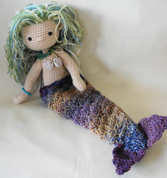 Crochet Patterns Mermaid : My Little Crochet Doll-Mermaid by Betty Virago. Pattern in US and ...
