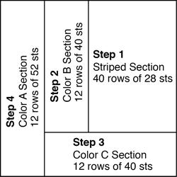 Sassy Stripes Crochet Pillow - Diagram 250x250-140620