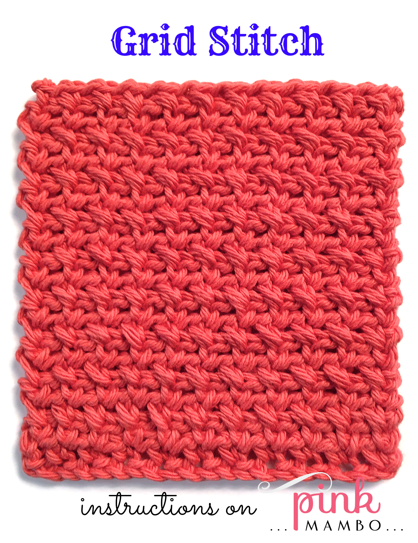 Crochet Stitches And Names : this is one of my favorite stitch patterns it has great drape and