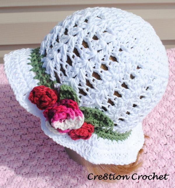 Free Crochet Pattern For Easter Bonnet : Crochet Summer Hats - 8 Free Patterns! - Pink Mambo