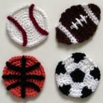 Sports Ball Appliques by Rachel Choi of Crochet Spot
