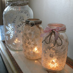 Doily Jar Covers