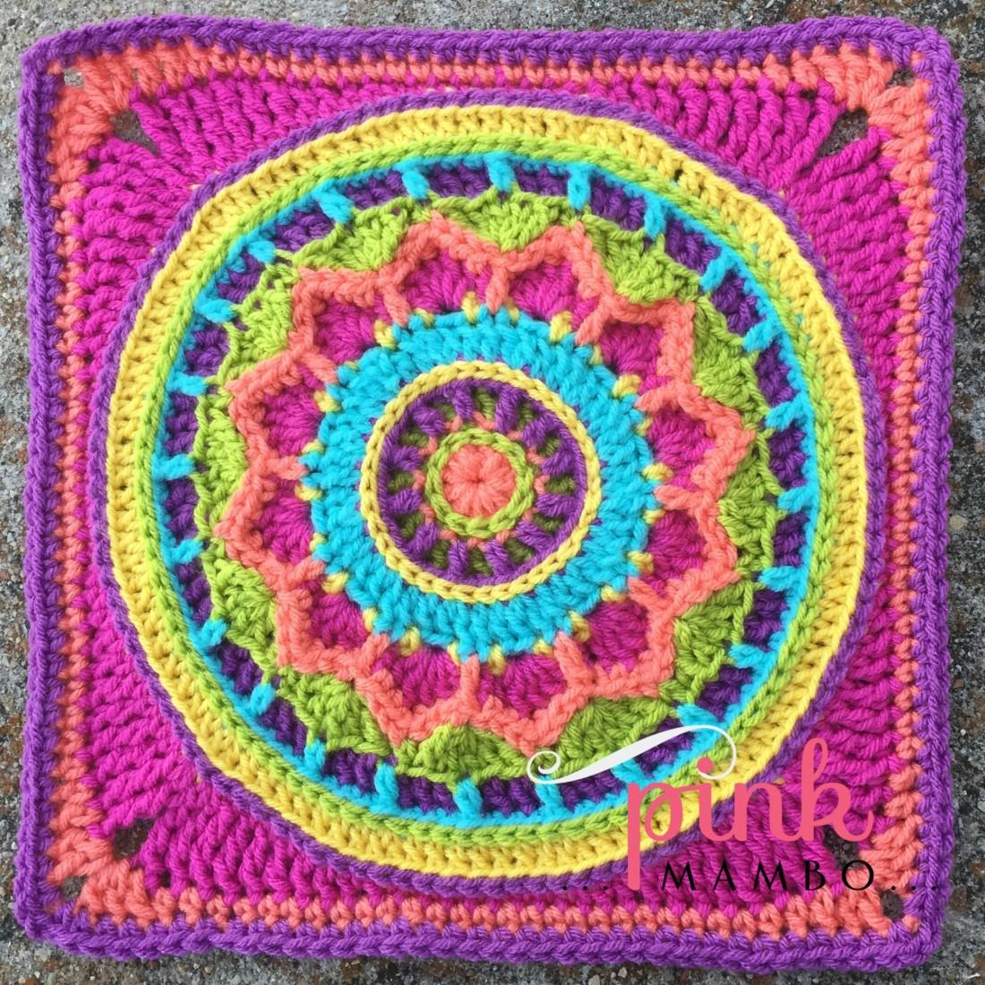 "Dream Circle 12"" Crochet Square and Mandala"