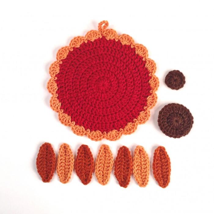 Little Gobbler crochet pieces