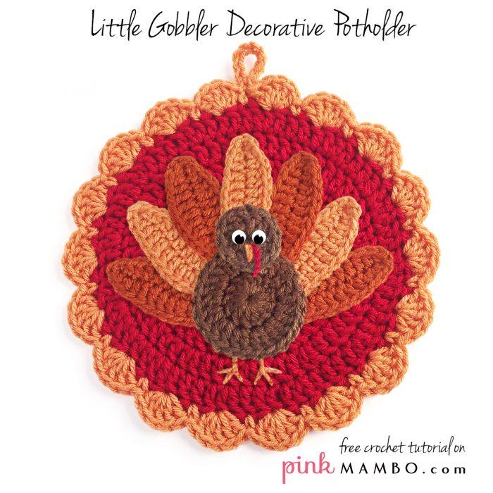 Crochet Little Gobbler Decorative Potholder_00_2176