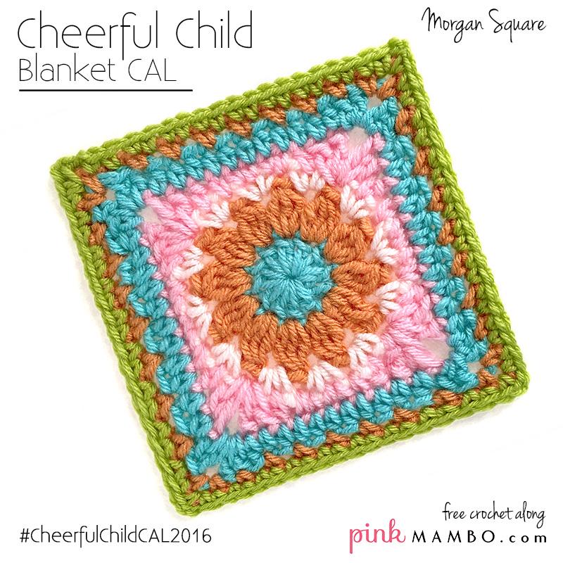 Cheerful Child Crochet Along Morgan Square 10 Pink Mambo