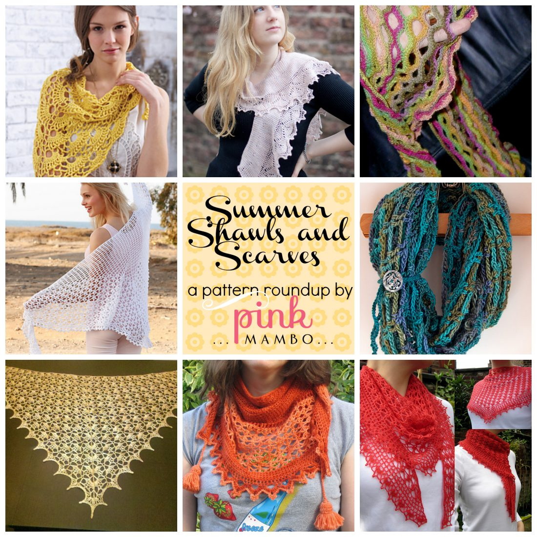 Summer Shawls and Scarves roundup