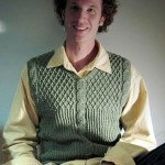 Adventuring Sage Cable Vest by Even Howard