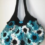 Crochet flower Purse