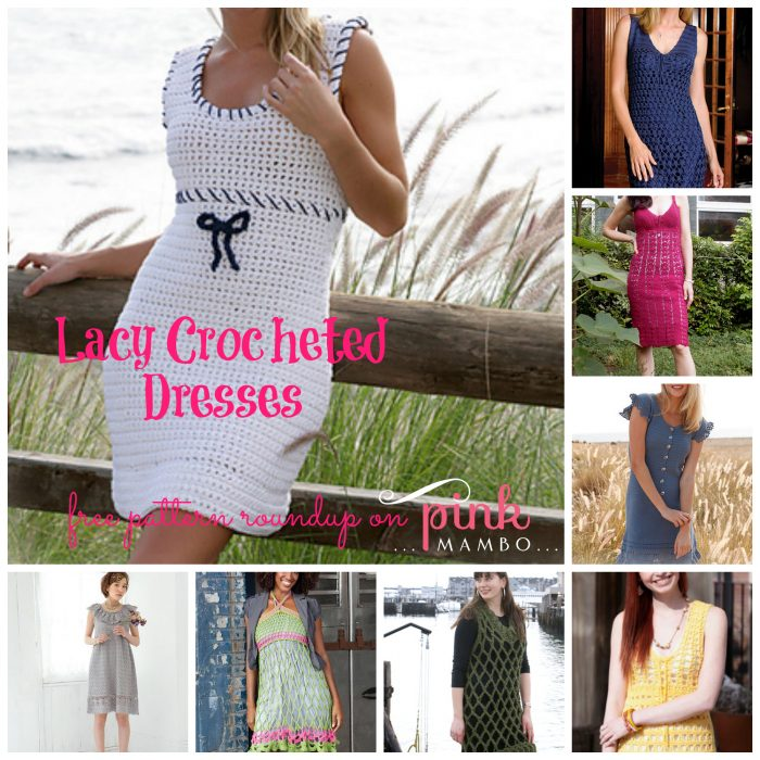 Lacy Crocheted Dresses Collage