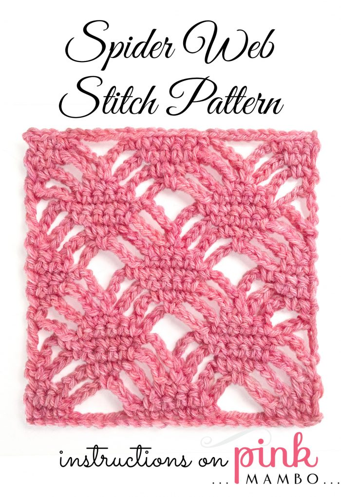 spider web stitch pattern