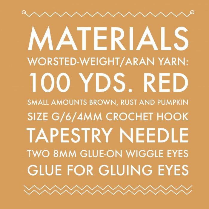 Little Gobbler materials list