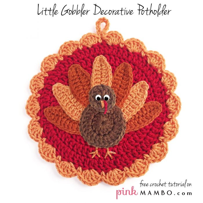 Crochet Little Gobbler Decorative Potholder_00_2176