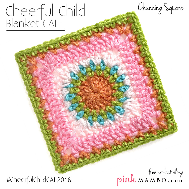Cheerful Child Crochet Along Channing Square #13
