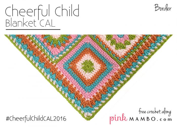 Cheerful Child Crochet Along Border - Pink Mambo